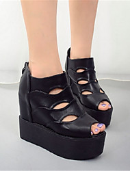 Women's Sandals Others PU Casual Black White