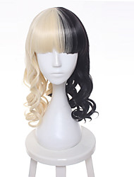 Fashion Wig Melanie Martinez Half Blonde And Black Culy Cosplay Wigs Heat Resistance Fiber