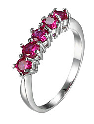 Women's Ring Emerald AAA Cubic Zirconia Handmade Zircon Cubic Zirconia Imitation Diamond Alloy Jewelry For Daily