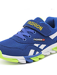 Boy's Athletic Shoes Spring Summer Fall Winter Comfort Tulle Outdoor Casual Athletic Low Heel Magic Tape Blue Red Navy