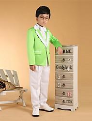 Хлопок Детский праздничный костюм - 6 Куски Включает в себя Жакет / Рубашка / Жилет / Брюки / Широкий пояс / Галстук-бабочка