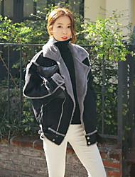 manteau de fourrure véritable de lapin de qualité femmes de grande taille&coton manteau court plus de velours épais manteau de # 39;