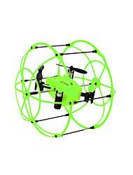 Drone Helic Max 1336 4CH 6 Eixos 2.4G - Quadcóptero RC Vôo Invertido 360° Verde / Laranja