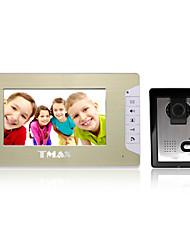 """tmax® 7 """"LCD vidéo porte téléphone photographier sonnette d'entrée de la maison interphone avec 500 lignes TV nuit caméra de vision"""