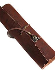 sacs de stockage millésime rouleau pirate stylo Poche map pack composent la poche sac caribbean (couleur aléatoire)
