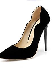 Feminino-Saltos-Sapatos com Bolsa Combinando-Salto Agulha-Preto / Azul / Vermelho-Courino-Escritório & Trabalho / Casual / Festas & Noite