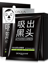 10PCS/Box Activated Carbon Nose Blackhead Strip Remover Mask Peeling Off Black Head Suction Black Mask Pore Cleanser