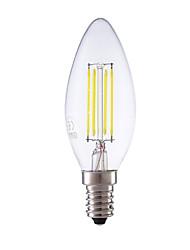 3.5 E14 Ampoules à Filament LED B 4 COB 350/400 lm Blanc Chaud / Blanc Froid Gradable AC 100-240 V 1 pièce
