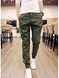 Men's Skinny Chinos Pants,Casual/Daily Simple Solid Low Rise Zipper Cotton Micro-elastic Spring / Fall