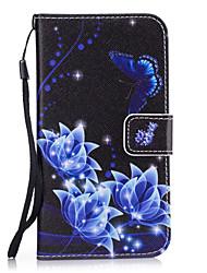 Pour Etuis coque Portefeuille Porte Carte Avec Support Coque Arrière Coque Fleur Dur Cuir PU pour SamsungS8 S8 Plus S7 edge S7 S6 edge S6