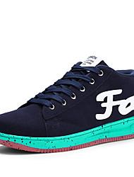 Femme-Décontracté / Sport-Noir / Bleu / Gris-Talon Plat-Confort-Sneakers-Daim