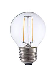 2W E26/E27 Ampoules à Filament LED G16.5 2 COB 200 lm Blanc Chaud Gradable V 1 pièce