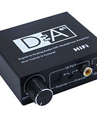conversor digital-analógico de áudio com áudio estéreo de alta fidelidade amplificador de auscultadores toslink coaxial com o poder
