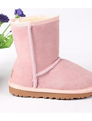Girl's Boots Comfort Suede Casual Black Yellow Pink Purple Gray Fuchsia Coffee