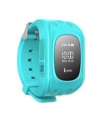 GW015 Children'S Positioning Watch Blue 0.96-Inch LCD Green Silicone Memory 64M 400 MA APP Remote Control