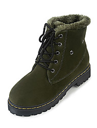 Women's Boots Fall / Winter Comfort Increased Within Thick Warm Suede Outdoor / Casual Low Heel Lace-up