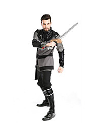 Festival/Holiday Halloween Costumes Gray & Black Solid Top / Pants / Cloak / More Accessories Halloween / Christmas / Carnival Female