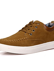 Men's Sneakers Comfort Suede Shoes Fashion Leather Shoes Casual Sports Shoes Flat Heel Lace-up Black / Blue / Brown Walking