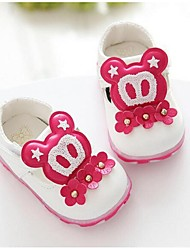 Kids' Girls' Baby Loafers & Slip-Ons Comfort Microfibre Casual Comfort White Ruby Blue Blushing Pink Flat