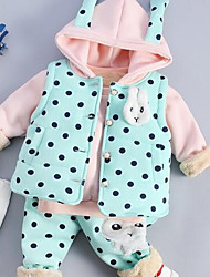 Girl Casual/Daily Print Sets,Cotton Winter / Fall Clothing Set