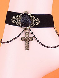 Korean Woman Alloy Cross Anklet