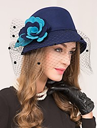 Women's Wool Net Headpiece-Wedding Special Occasion Casual Fascinators Hats 1 Piece