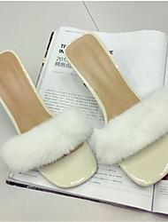 Damen-Slippers & Flip-Flops-Lässig-PUOthers-Schwarz / Weiß / Grau
