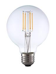 3.5 E26 Lâmpadas de Filamento de LED G80 4 COB 350 lm Branco Quente Regulável AC 110-130 V 1 pç