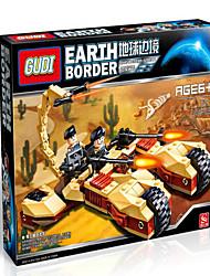 Bonecos & Pelúcias Blocos de Construir para presente Blocos de Construir Tanque Robô 5 a 7 Anos 8 a 13 Anos 14 Anos ou Mais Brinquedos