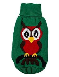 Hunde Pullover Rot / Grün Hundekleidung Winter / Frühling/Herbst Tier Niedlich / Weihnachten