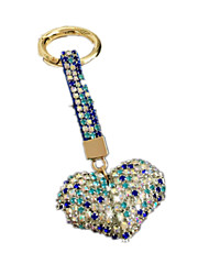 Key Chain Leisure Hobby Key Chain / Diamond / Gleam Heart-Shaped Metal Blue