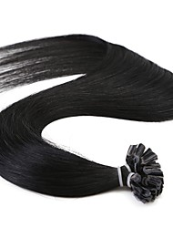 Neitsi 16'' 50g/lot 1g/s  Straight Pre bonded U Nail Tip Fusion Human Hair Extensions