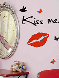 Romance Stickers muraux Stickers avion Stickers muraux décoratifs,Verre Matériel Amovible Décoration d'intérieur Wall Decal