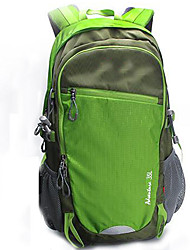 35 L Hiking & Backpacking Pack Camping & Hiking / Climbing Outdoor Waterproof / Multifunctional Green / Gray / Blue Nylon