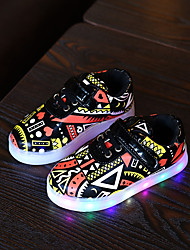 Boys' Sneakers Comfort Leatherette Fall Winter Casual Walking Magic Tape Flat Heel Yellow Green Flat