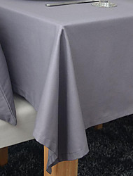 Square Solid Table Cloth , Cotton Blend Material Hotel Dining Table / Table Decoration