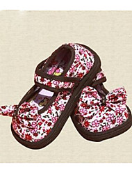 Kids' Girls' Flats Comfort Cotton Casual Black Red Blushing Pink