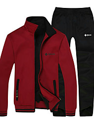 Running Tracksuit / Clothing Sets/Suits Women's / Men's Long Sleeve Thermal / Warm / Fleece Lining / Soft / Comfortable CottonSnowsports