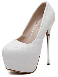 Women's Heels Platform PU Party & Evening Platform Black White