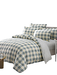 Mingjie Green Plaid Bedding Sets 4PCS for Twin Full QueenSize from China Contian 1 Duvet Cover 1 Flatsheet 2 Pillowcases