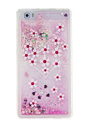 Для Движущаяся жидкость Кейс для Задняя крышка Кейс для Цветы Мягкий TPU для Huawei Huawei P9 Lite / Huawei P8 Lite