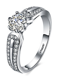 Plated 2CZ Zircon Simulated Diamond the Wedding Band Ring for Women Bezel Vintage Wholesale Size 6.7.8.9
