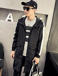 Men's Simple Hooded Long Sleeve