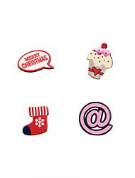 Mode cute Weihnachten Elemente Brosche Set