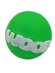 Dog Pet Toys Squeaking Toy Squeak / Squeaking / Elastic Green Rubber