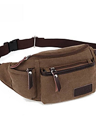 10 L Belt Pouch/Belt Bag Wearable Black / Others / Army Green Canvas