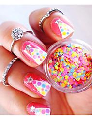 Mixed Nail Art Glitter Decoration Colorful Mini Round Thin Paillette Design