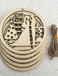 Wood Wedding Decorations-5Piece/Set Winter Non-personalized