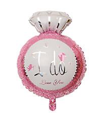 Balões Decoração Para Festas Circular alumínio Rosa Para Meninos / Para Meninas 5 a 7 Anos