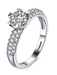 Wholesale New Promotion Trendy 18K Platinum Plated AAA Zircon Women Jewelry Gift Rings  Wedding JewelryR812